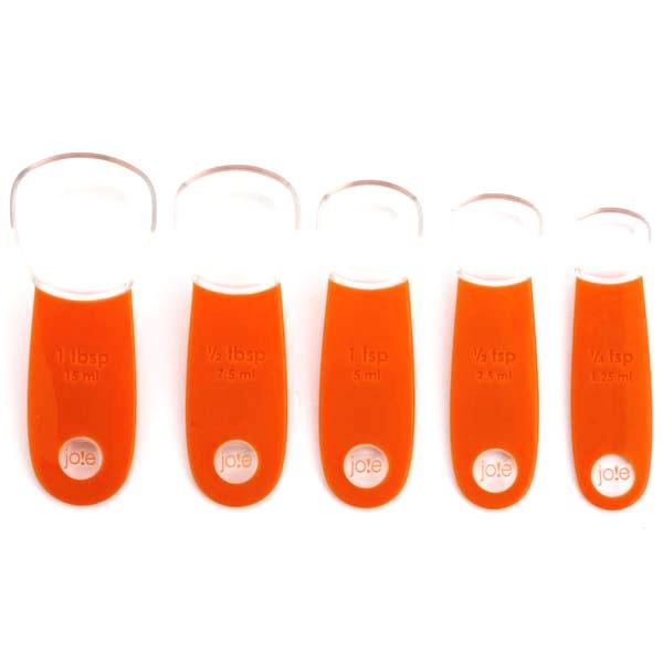 Zestaw 5 miarek - łyżeczek MSC pomarańczowe MS-26743P
