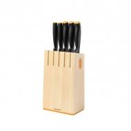 Zestaw 5 noży w bloku Fiskars Functional Form - POLSKA DYSTRYBUCJA