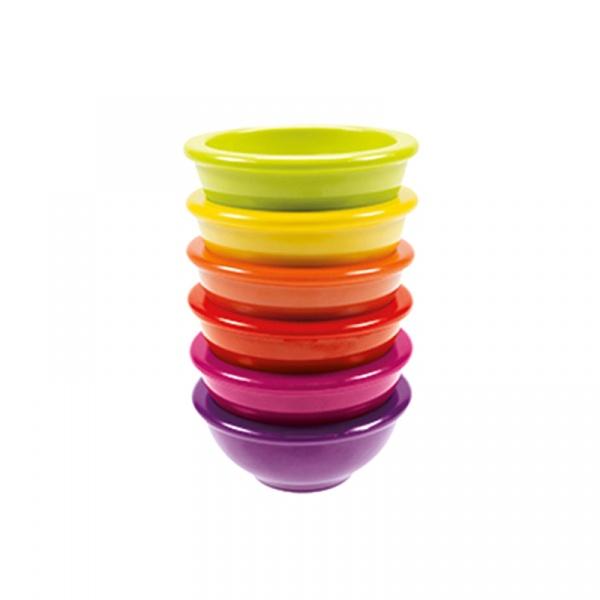 Zestaw 6 miseczek 8,5 cm Zak! Designs Rainbow multikolor 2098-3126