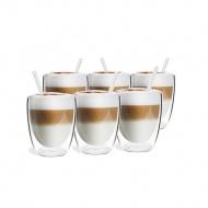 Zestaw 6 szklanek z podwójną ścianką 320ml ze słomkami VITA 26858