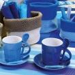 Zestaw 6 szt. kubków do espreeso Contento Intermezzo niebieskie CO-671766