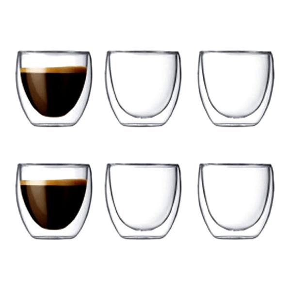 Zestaw 6 szt. szklanek izolowane 0,08 l 6 szt. Bodum Pavina BD-4557-10-12