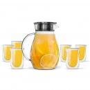 Zestaw 7-el. dzbank 1200ml i szklanki termiczne 300 ml Cristallo 25905