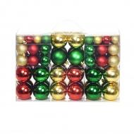 Zestaw bombek, 100 elementów, czerwony/złoty/zielony