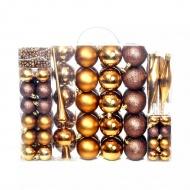 Zestaw bombek, 113 elementów, brązowy/spiżowy/złoty