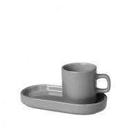 Zestaw do espresso 4 elementy Blomus MIO szary