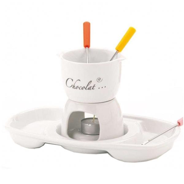 Zestaw do fondue Kela Praline biały KE-66398