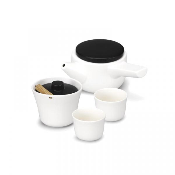 Zestaw do herbaty PO: Evo-Song biało-czarny 14703