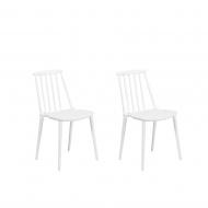 Zestaw do jadalni 2 krzesła białe Nocenti