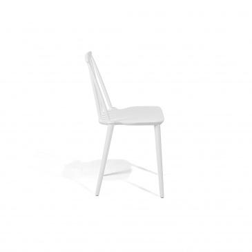 Zestaw do jadalni 2 krzesła białe VENTNOR