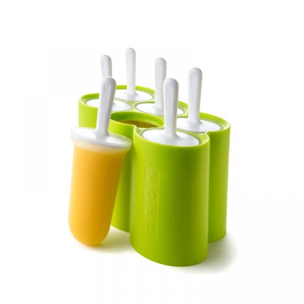 Zestaw do lodów na patyku CLASSIC POPS na 6 lodów Zoku zielono-biały ZK114