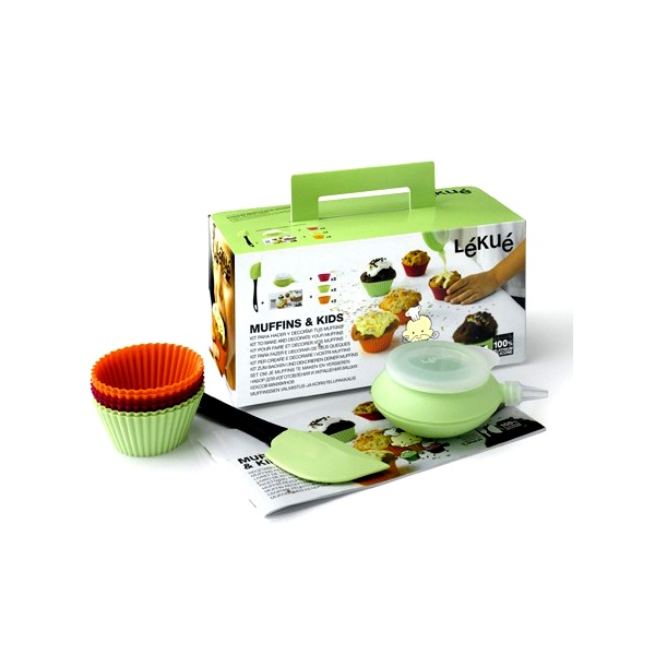 Zestaw do muffinów dla dzieci Lekue Muffinkids 3000000SURM017