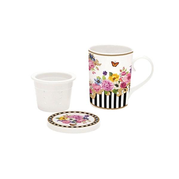 Zestaw do parzenia herbaty 250ml Nuova R2S Flowers Glamour 927 GLUR