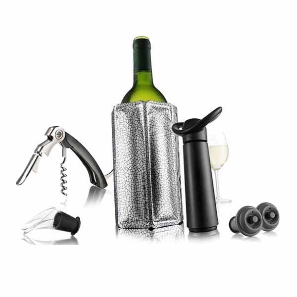 Zestaw do wina Vacu Vin Essentials czarny VV-6889060