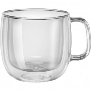 Szklanki termiczne do cappuccino z uchwytem 2szt. 450ml