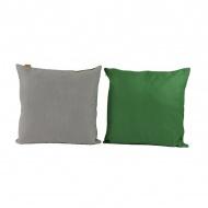 Zestaw dwustronnych poduszek 2szt 50x50cm Gie El Botanica zielony/szary