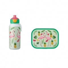 Zestaw dziecięcy bidon i lunchbox Campus Tropical Flamingo 107410165374