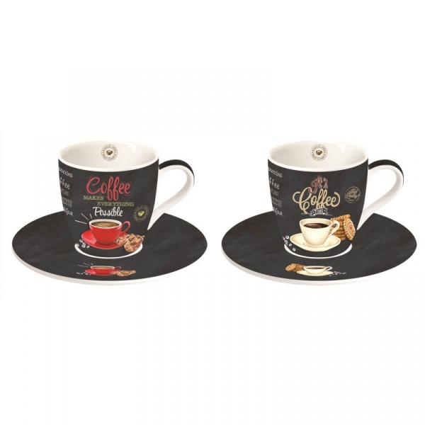 Zestaw filiżanek do espresso 2szt 0,09L Nuova R2S czarny 1015 ICTT