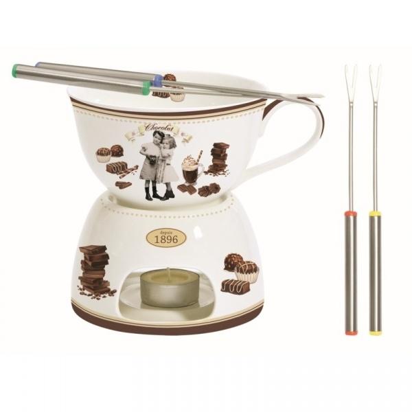 Zestaw fondue do czekolady 0,4L Nuova R2S Chocolate Vintage 1140 CHOV
