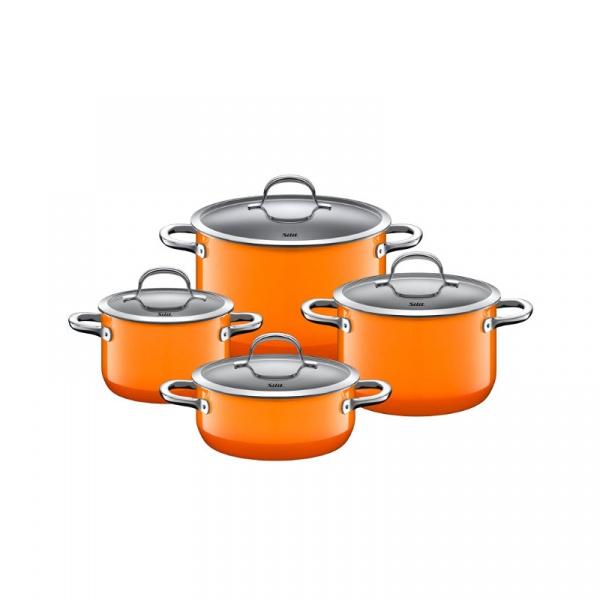 Zestaw garnków 4szt Silit Passion pomarańczowy 2l-6,4l 21.0929.9066