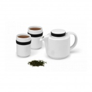 Zestaw kawowy PO: Ring biały