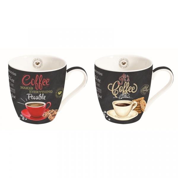 Zestaw kubków do kawy 2szt 0,35L Nuova R2S czarny 1011 ICTT