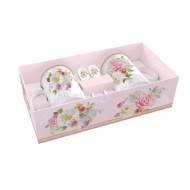 Zestaw kubków z łyżeczkami 300ml Nuova R2S Romantic Lace