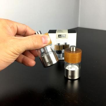 Zestaw mini młynków do soli i pieprzu 6,2 cm AdHoc David