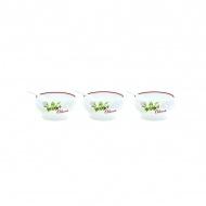 Zestaw miseczek 3 szt. z łyżeczkami Nuova R2S Bistrot Olives