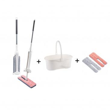 Zestaw MOP 2W1 PUSH LAMART z wiadrem i dodatkowymi nakładkami