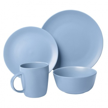 Zestaw obiadowy 16el. Pop Blue niebieski