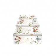 Zestaw pojemników 3 szt. Nuova R2S Romantic polne kwiaty