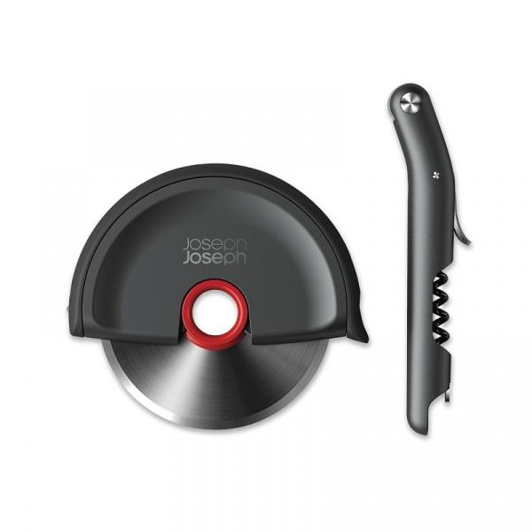 Zestaw prezentowy 2-częściowy: korkociąg + nóż do pizzy Joseph Joseph 98247