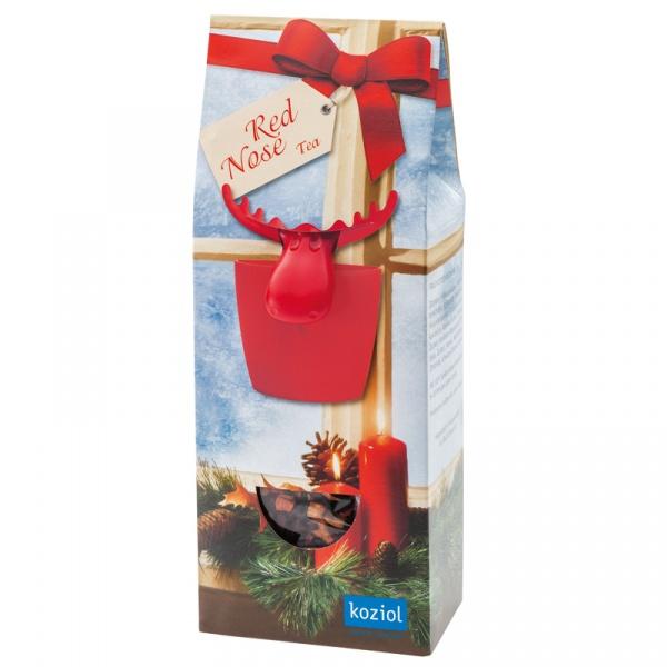 Zestaw prezentowy herbata + zaparzaczka Koziol RED NOSE TEA KZ-0846001