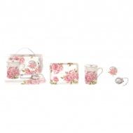 Zestaw prezentowy Nuova R2S Romantic Lace różowy