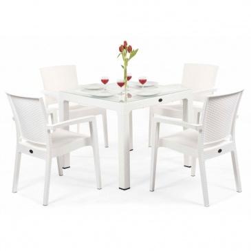 Zestaw restauracyjny ZENITH 4+1 Glass : Kolor - White