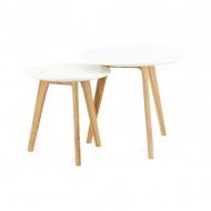 Zestaw stolików kawowych Espino 50x50cm Kokoon Design biały