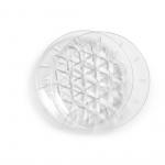 zestaw talerzy piknikowych, 2 szt., przezroczysty akryl, śred. 26 cm
