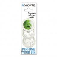 Zestaw wkładów zapachowych sosna 2x5x6cm  Brabantia  Perfume Your Bin przezroczyste