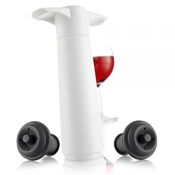 Zestaw z pompką do wina 22,2x8,5x4,3 cm Vacu Vin biały VV-09812606