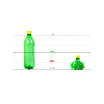 Zgniatarka do butelek, puszek i kartonów Omega Meliconi różowa