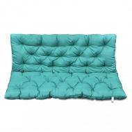 Zielona poduszka na huśtawkę ogrodową 120 cm