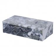 Zielone pudełko z pokrywą Marble Mint Grey 30x15x7cm